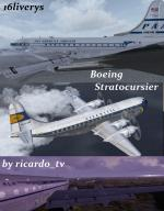 Boeing 377 Stratocruiser Multi Livery Package Updated for FSX