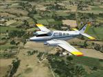 Beech Baron STPI Curug Flying School Textures