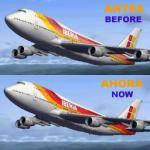 Boeing  747-400 Iberia Textures