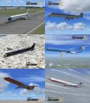 FSX MS Virtual Airline Texture Package for MD-83