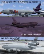 Douglas DC-10F Freighter V2 Multi Livery Package