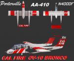 FSX/P3D Aerosoft OV-10 CAL FIRE Repaint Pack 1