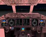 Boeing                   717 photoreal Jumpseat position panel.