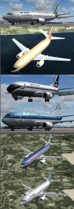 FSX/P3D 3.4 Native Boeing 737-300 Multi Package 3
