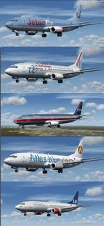 FSX/P3D  Native Boeing 737-400 Multi Package 3 v2 updated