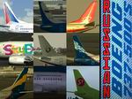 FS2004                   Boeing 737-500 Russian Textures Pack.