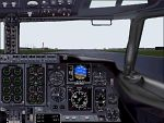 737-400                   panel from 1st officer's perspective