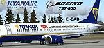 """Kittyhawk                   Studios Boeing 737-800 Ryanair """"Auf Wiedersehen Lufthansa"""""""