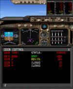 FS9 / FSX Fuel Data and Door Control Gauge.