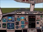 FS2000                   highly realistic panel for the Boeing 767-200ER.