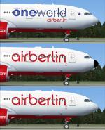 Airbus A330-200 Air Berlin 3 Liveries Package