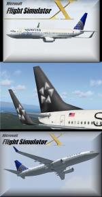 FSX United Boeing 737-800 Textures Set