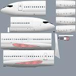 Vistaliners Boeing 727-100 paintkit