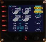 B737-800 EICAS FSX model for Saitek Pro Flight Instrument Panel