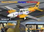 Beech Baron 58 Aurigny Air Service textures
