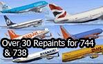 FSX Boeing 737 & 747 Repaint Pack