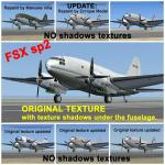 FSX Curtiss C-46 Commando Textures update