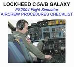 Lockheed                   C-5 Galaxy Checklist