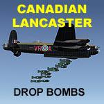 FSX Canadian MkX Lancaster Drop Bombs.
