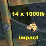 FSX Canadian MkX Lancaster Drop Bombs.