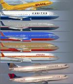 Boeing 737-800 USA  Airlines Textures Pack