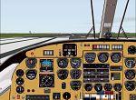 """FS2000                     Panel Panel for the Commander 500s """"Shrike"""" in wood trim"""