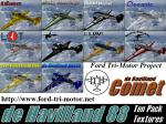 FS2004 10 Pack of de Havilland 88 Liveries