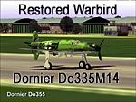 FS2002                Restored Dornier Do335M14                    Warbird: