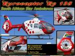 "FS2004                   Eurocopter Ec135 T1 Package South African Star ""ZS-RSR"""
