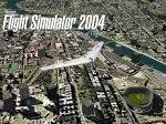 FS2004                     Splashscreen of Wing over Bronx.