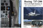 FSX                   Manual/Checklist Boeing 737-200.