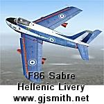 F86 Sabre Hellenic Flame Textures