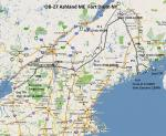 FSX Flight Plan for OB-27 Ashland ME and Fort Drum NY
