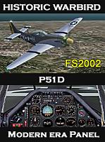 FS2002                   P51D With Packard Merlin V-1565-7: