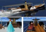 FSX Panel Upgrade with Passengers for Paddle Steamer SS Hjejlen