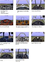 A             collection of panels for eight of the now flyable aircraft in CFS2             P40, Kate, Val, SBD, TBD, TBF,P39, and the Oscar.