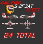 FSX/P3D Marsh S-2F3AT Cal Fire Fleet Textures Pack