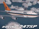 "FS2004                  Project Opensky Boeing 747SP South African Airways ZS-SPE ""Hantam""                  wearing the""Springbok"" scheme as she appeared in the                  early 90's"