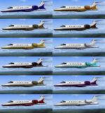Lear Jet 45 12 Texture Pack