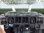 FS2000                   Boeing 717 photoreal panel, jumpseat view