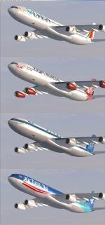 FSX/P3D  Airbus A340 -200-300 Mega Package V2