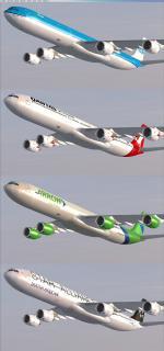 FSX/P3D Airbus A340 -500-600 Mega Package V2