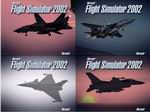 Set                     of five splash screens for FS2002, depicting various modern                     military aircraft,