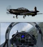 FSX/P3D Raytheon/Beechcraft T-6 Texan II RAF 3 livery pack