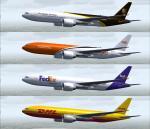 DHL UPS TNT FEDEX 777-200LRF Textures