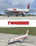 FSX Boeing 737-800 TWA Textures