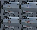 FS2004                   B-29B Anime Girls Nose Art Package