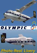 FSX/FS9 Short Skyvan Olympic photoreal triple Livery package.