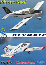 FSXA/FS2004 Piper PA-28 Cherokee 140 Olympic Photoreal Package