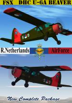 FSX DHC- U-6A wheeled Beaver Netherlands A.F. Package